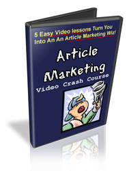 Master Resale Rights Article Marketing Video Crash Course